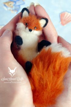red fox 5'' by SaniAmaniCrafts