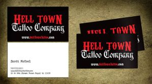 HellTownTattooCo. BusinessCard by RaceyGraphics