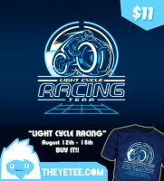 Light Cycle Racing at TheYetee by Winter-artwork