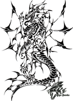 Commish: Sea Dragon Tribal II by Liger-Inuzuka