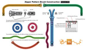 Zipper Pattern Brush by vectorgeek