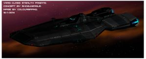 Varg-class stealth frigate by Shoguneagle