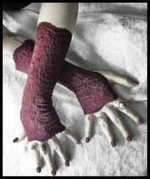 Poison Lace Fingerless Gloves by ZenAndCoffee