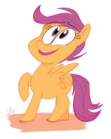 Scootaloo Doodle- MLP by SheDraws4U12