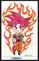 SON GOKU SUPER SAIYAN GOD 002 by Acid-Flo