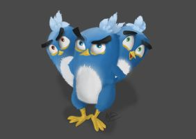 Angry birds, The Blues by Worran