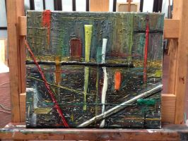 City Landscape Abstract Painting by etodorut