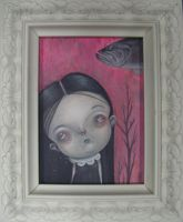 Little Goth Girl and a Fish by lordego1