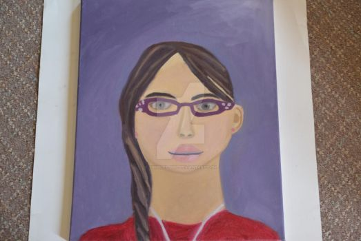Painted Self Portrait by Tumbles-Girl
