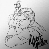 Albert Wesker by Axel-Sama