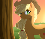 Applejack Portrait by U1fric