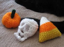 Crocheted Halloween Things by merigreenleaf