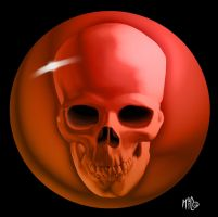 Skull Orb by Mattspaintings