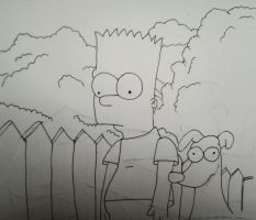 The Simpsons - Bart and Santa's little helper by heavyrain1