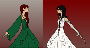 Broken Empire Trilogy: Katherine and Miana by alefolla