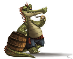 DAY 155. Tick-Toc the Croc (30 Minutes) by Cryptid-Creations