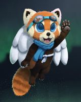 Magical Flying Red Panda by Quillyfox