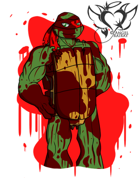 Tmnt Paint Raph by AngelRaiRay