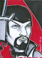 Sketch Card Mirror Spock by stourangeau