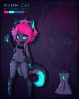 .: Auction Closed :. Neon Cat by Chewy-Adopts