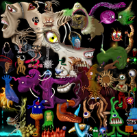 Creature mosaic by deviousmosaics