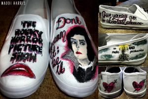 Rocky Horror Shoes by MasochisticHeartache