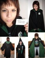Slytherin Robe with Customer by Groovygirlsuzy17