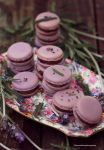 Lavender Macarons  filled w Chocolate Buttercream by theresahelmer