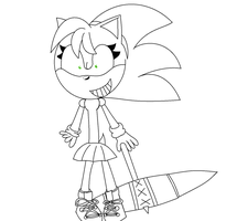Rosy Rascal Lineart by Sonicgenerations202