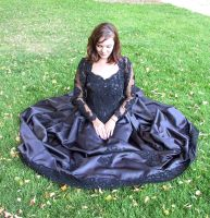 Black Ballgown Terra 7 by Falln-Stock
