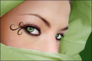 Green eyes by Soumiita