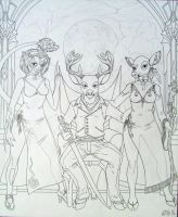 Jaden with Two Extraordinary Ladies by Cervidian94