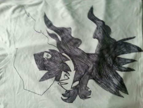 Art shirt #1 view#1) I drew Darkrai on my shirt by DarkL0rd15