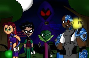 teen titans with.. slenderae by careenloba