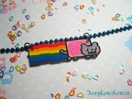 Nyan Cat Necklace by JennyLovesKawaii