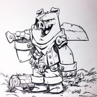 Inktober 2015 Day  05 - Swine by DerekLaufman