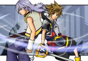 Sora and Riku - Alls End by LightningGuy