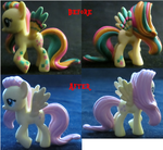 Before and After: Fluttershy to Fluttershy by FelidaeSilvestris