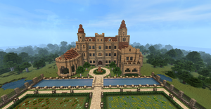 Minecraft Castle by MagDragonWolf