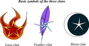 Basic Symbols of the Three Clans by StarscreamLove