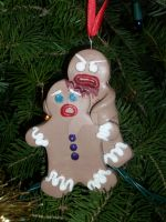 Gingerbread Zombie Attack by spookyspinster