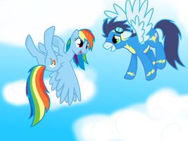 Rainbow dash x Soarin by Sotoco