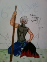 Kakashi as 6th hokage by Minato1993