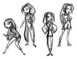 Hana char. design concepts by tombancroft