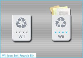 Wii Icon Set: Recycle Bin Icon by AppleOfDiscord