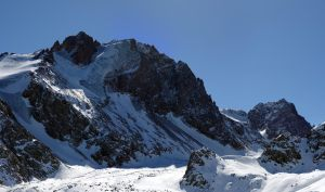 Mountain with glacier by voldemometr
