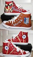 Attack on Titan- Custom Converses by SaiKats