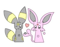 Espeon and Umbreon by CoolUmbreon