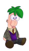 plush Ferb in a coat by pink-Bowser
