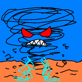 The Angry, Lightning-Legged Tornado by Exate